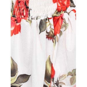 Stylish Off The Shoulder Floral Print Blouse For Women -