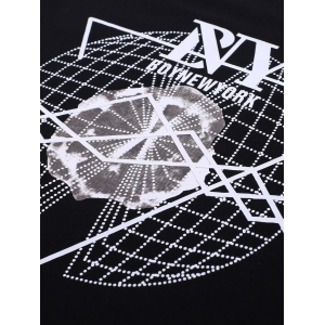 BoyNewYork 3D Geometric Pattern T-Shirt - BLACK XL