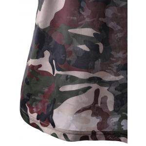 Fashionable Short Sleeves Round Collar Camo Printing T-Shirt For Women -