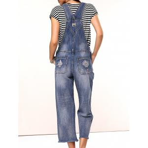 Casual Ripped Wide Leg Overalls -