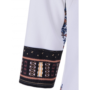 Ethnic Tribal Print Shift Dress -