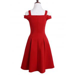 Stylish Sweetheart Neck Red Cut Out Women's Dress -
