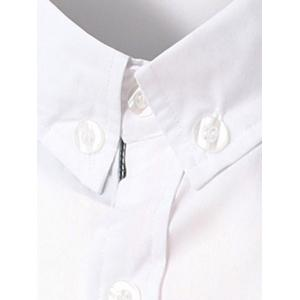 Chic Stripe Spliced Turn Down Collar Short Sleeve Shirt For Men -