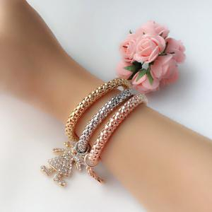 Style strass Litter Fille Layered Bracelets pour les femmes - Multicolore