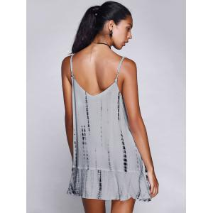 Print Spaghetti Strap Casual Mini Dress - WHITE XL