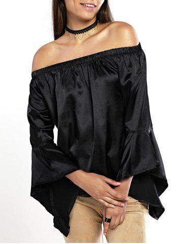 Shop Off The Shoulder Ruffle Sleeve Blouse