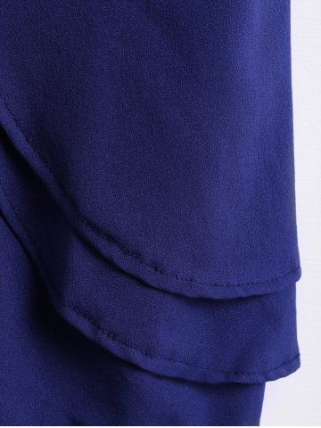 Cheap Sexy Style Strapless Solid Color Women's Jumpsuits - M PURPLISH BLUE Mobile