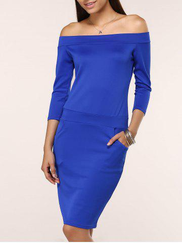 Store Off The Shoulder Midi Bodycon Dress