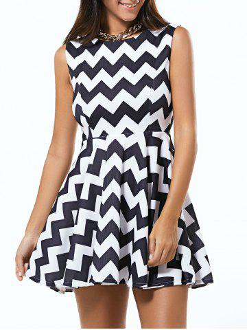 Outfit Zigzag Sleeveless Fit and Flare Dress