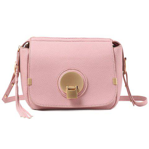 Sweet Hasp and PU Leather Design Shoulder Bag For Women