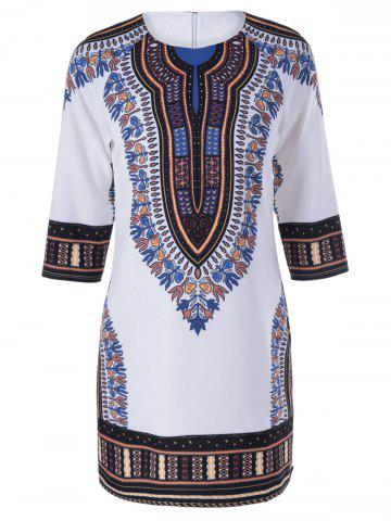 Hot Ethnic Tribal Print Shift Dress