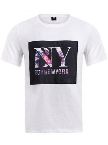 BoyNewYork Floral Applique T-Shirt - White - S
