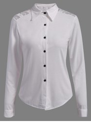 Formal Single-Breasted Slimming Women's Shirt