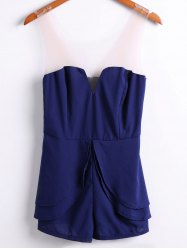Sexy Style Strapless Solid Color Women's Jumpsuits -
