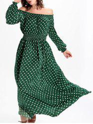 Trendy Off The Shoulder High Waist Polka Dot Women's Dress