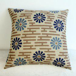 Fashion Flower Pattern Cotton Linen Pillow Case