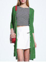 Candy Color V Neck Thin Cardigan