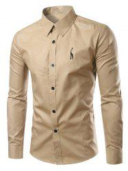 Brief Style Turn-Down Collar Slim Fit Long Sleeve Shirt For Men -