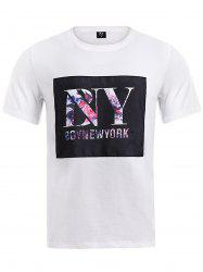 BoyNewYork Floral Applique T-Shirt
