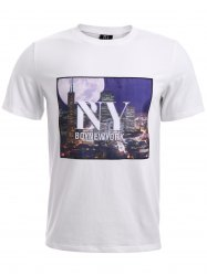 BoyNewYork 3D City Building Printed T-Shirt - WHITE M