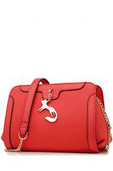 Metal Fox Crossbody Bag -