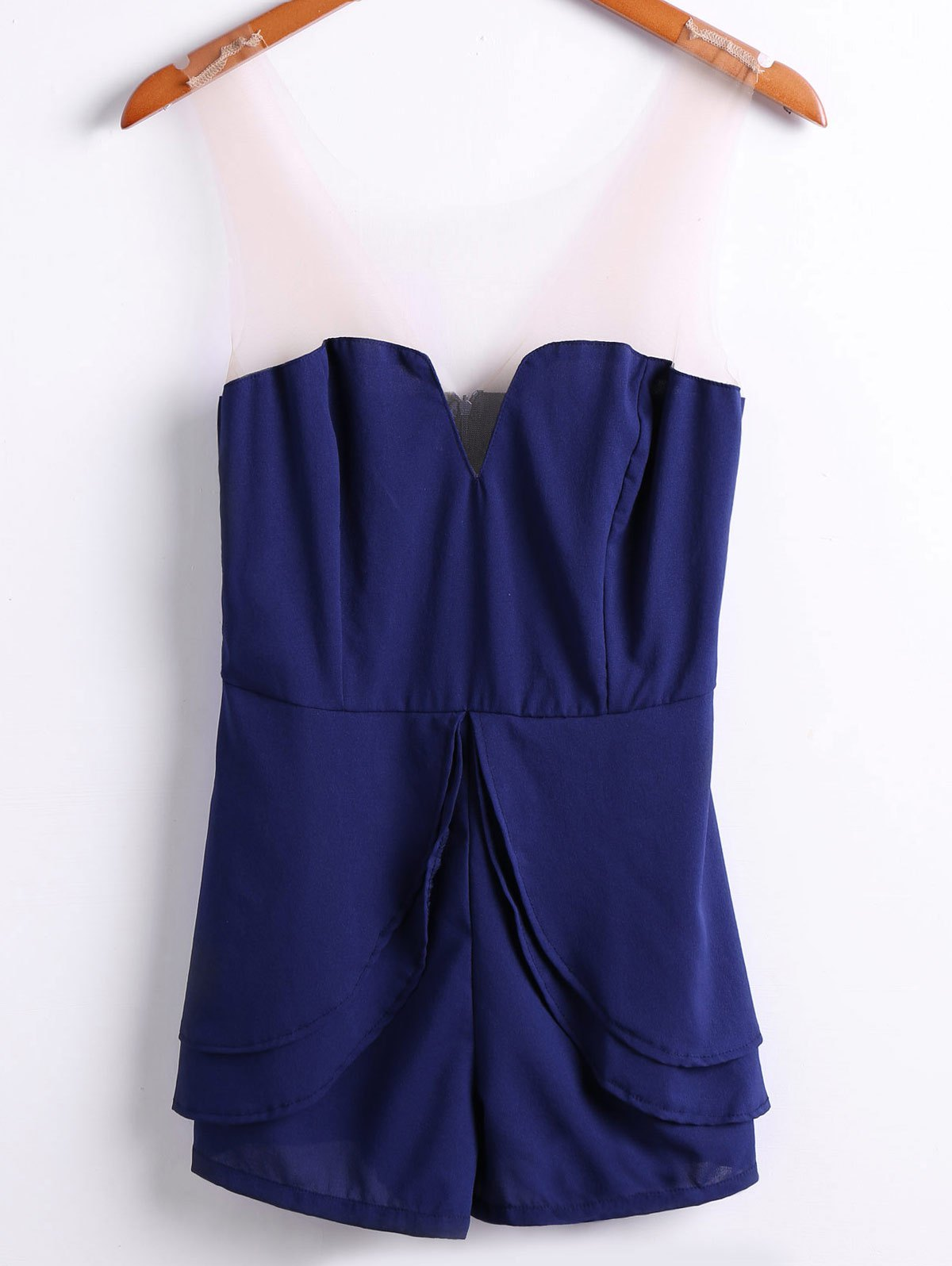 Discount Sexy Style Strapless Solid Color Women's Jumpsuits