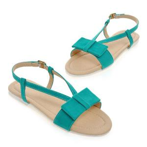 Leisure Bow and Flat Heel Design Sandals For Women -