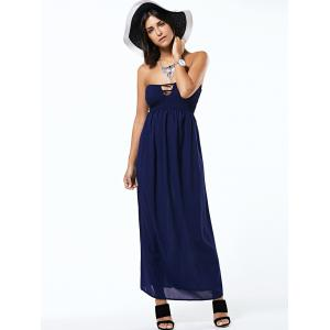 Strapless Sleeveless Cut Out Backless Tube Dress -