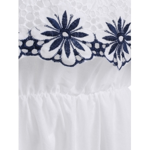 Overlay Floral Embroidery Dress -