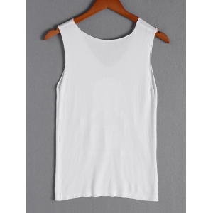 Simple Print V-Neck Tank Top For Women -