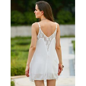 Lace Spliced Spaghetti Strap Women's Summer Dress -