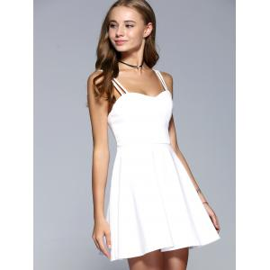 Strappy Backless A-Line Party Skater Dress -