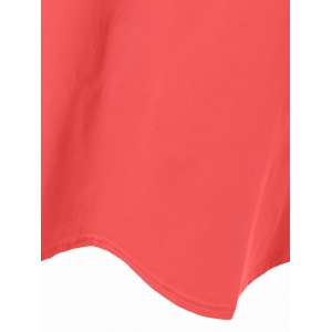 Scoop Neck Tiered Sleeve T-Shirt -
