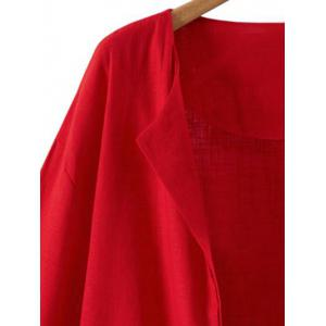 Collarless Open Front Jacket -