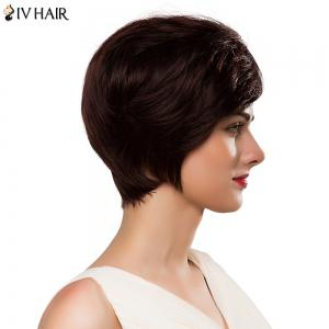 Spiffy Capless Women's Short Side Bang Siv Human Hair Wig -