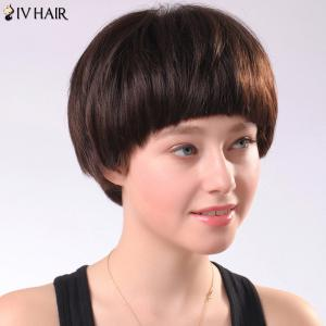 Spiffy Women's Short Full Bang Siv Human Hair Wig -