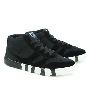 Trendy Tie Up and Splicing Design Casual Shoes For Men -