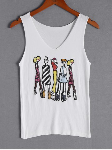 Store Cartoon Graphic Tank Top