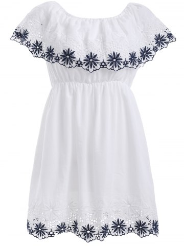 Best Overlay Floral Embroidery Dress
