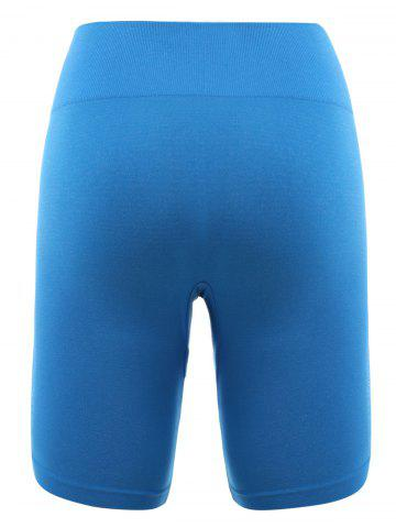 Outfit Skinny Sports Running Shorts - XL AZURE Mobile