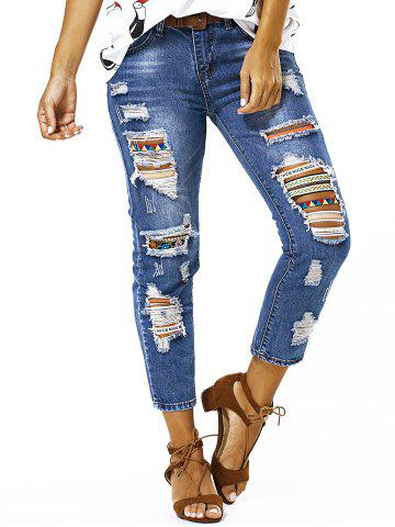 Hot Bleach Wash Ripped Jeans