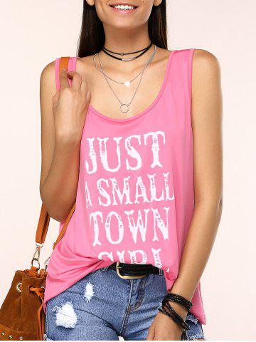 Outfit Charming Scoop Neck Letter Print Tank Top For Women