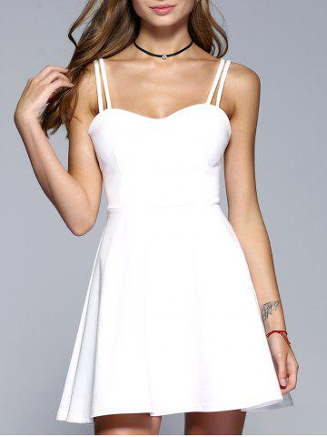 Affordable Strappy Backless A-Line Party Skater Dress