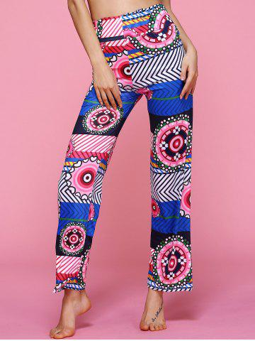 Shop High Waisted Geometric Ethic Print Pants