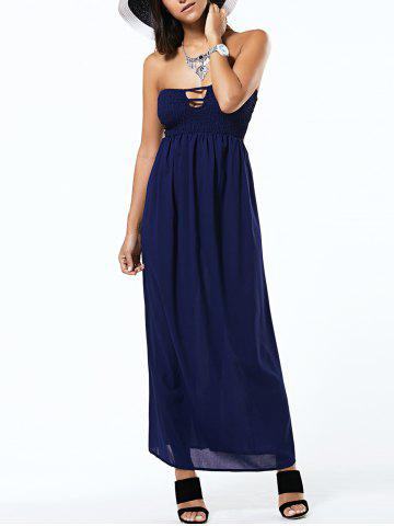 Fancy Strapless Sleeveless Cut Out Backless Tube Dress