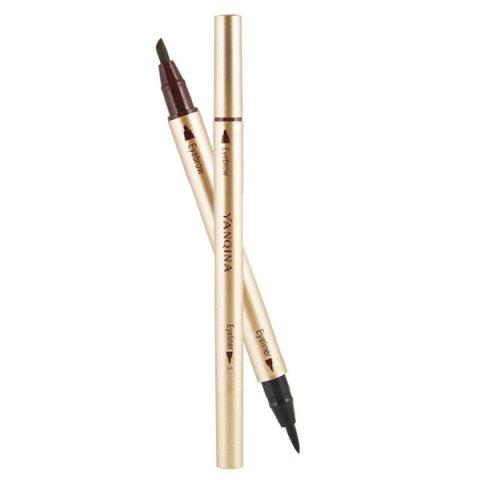 Sale Stylish Double-End Smudge-Proof Waterproof Liquid Eyeliner Pencil Eyebrow Pencil