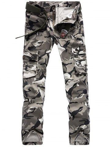 Outfit Camo Pattern Multi Pockets Cargo Pants For Men
