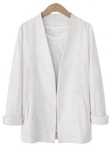 Affordable Open Front Collarless Jacket