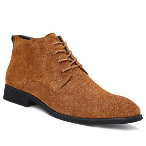 Online Stylish Suede and Tie Up Design Casual Shoes For Men