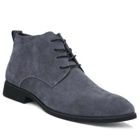 Cheap Stylish Suede and Tie Up Design Casual Shoes For Men